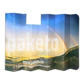Reklamná slnečná clona na čelné sklo auta, 600x1290 mm s potlačou