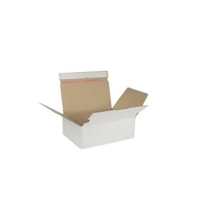 Rýchlouzatváracia krabica 3VVL 245x170x85 mm, lepiaca páska, biela