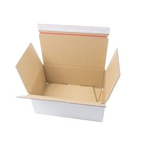 Rýchlouzatváracia krabica 3VVL 278x205x75 mm, lepiaca páska, biela