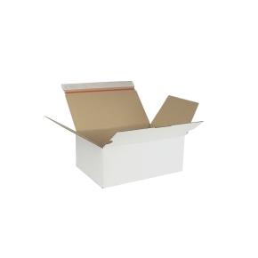 Rýchlouzatváracia krabica 3VVL 302x198x115 mm, lepiaca páska, biela