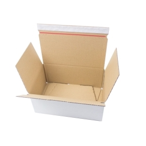 Rýchlouzatváracia krabica 3VVL 345x245x105 mm, lepiaca páska, biela