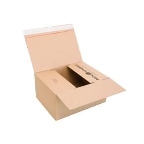 Rýchlouzatváracia krabica 3VVL 380x280x175 mm, lepiaca páska, kraft