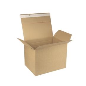 Rýchlouzatváracia krabica 3VVL 380x285x285 mm, lepiaca páska, kraft