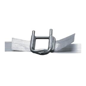 Spona viazacia pre polyesterovú pásku PES šírka 16mm, drôtená, zinkovaná
