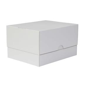 Tortová krabica 300x300x200 mm, pevná bielo/biela