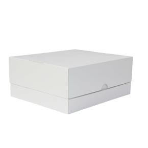 Tortová krabica 350x300x150 mm, pevná bielo/biela