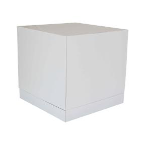Tortová krabica 350x350x350 mm, pevná bielo/biela