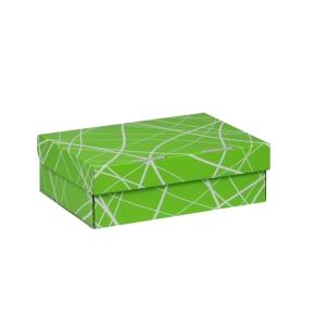 Úložná krabica 205x150x65 mm, zelená so vzorom