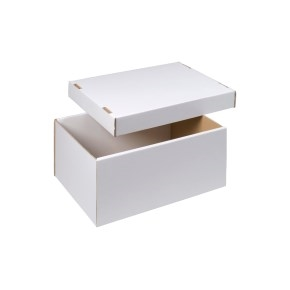 úložná krabica dno + veko 430x300x200 mm, BIELA