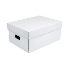 Úložná krabica komplet 430x300x200 mm, bielo-hnedá