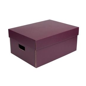 Úložná krabica komplet 430x300x200 mm, vínová matná