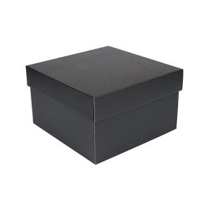 Úložná krabica s vekom 250x250x150 mm, čiero-sivá matná