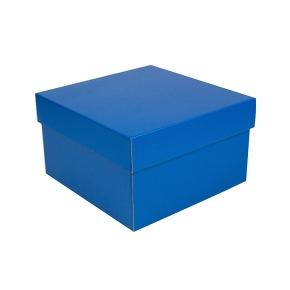 Úložná krabica s vekom 250x250x150 mm, modrá matná