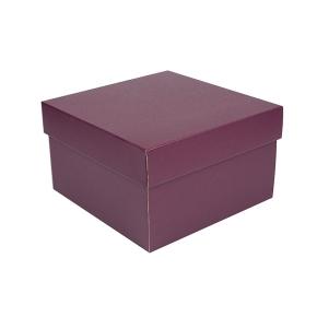 Úložná krabica s vekom 250x250x150 mm, vínová matná