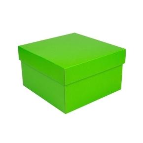Úložná krabica s vekom 250x250x150 mm, zelená matná