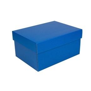 Úložná krabica s vekom 300x215x150 mm, modrá matná