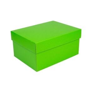Úložná krabica s vekom 300x215x150 mm, zelená matná