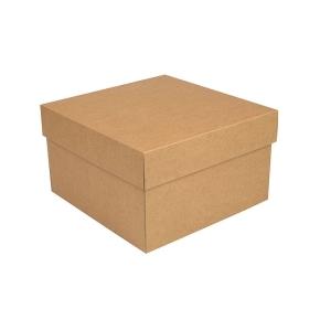 úložná krabica s vekom 300x300x250 mm, kraftová