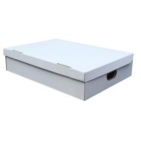 Úložná krabica s vekom 450 x 450 x 180 mm, BIELA