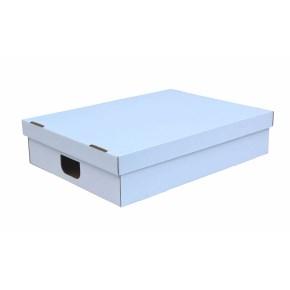 Úložná krabica s vekom 530 x 380 x 120 mm, BIELA