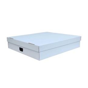 Úložná krabica s vekom 860 x 550 x 160 mm, BIELA