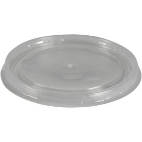 Viečko pro papierové misky priemer 111 mm, transparentné