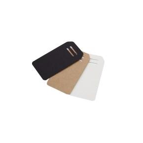 Visačky/menovky na darčeky, tvar obdĺžnik 95x50 mm, hnedá