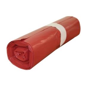 Vrece na odpad LDPE 700x1100/0,040 - červený