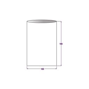 Vrecko celofánové 100x150 mm, PP, ploché