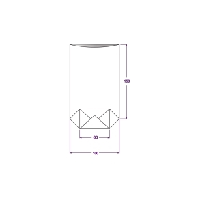 Vrecko celofánové 100x170 mm, PP, s krížovým dnom