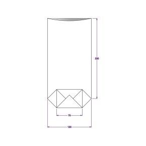 Vrecko celofánové 120x240 mm, PP, s krížovým dnom