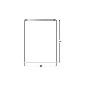 Vrecko celofánové 150x200 mm, PP, ploché