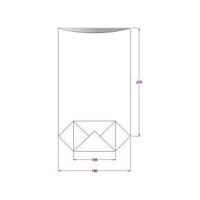 Vrecko celofánové 180x305 mm, PP, s krížovým dnom