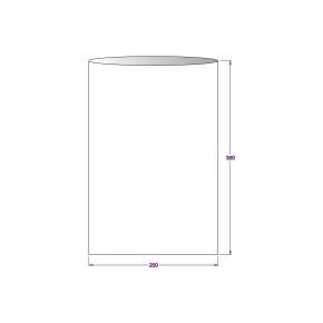 Vrecko celofánové 200x300 mm, PP, ploché