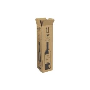 Zásielková krabica na 1 fľašu vína 105x105x420 mm, hnedá