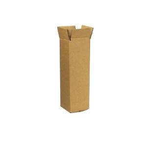 Zásielková krabica na 1 fľašu vína 92x92x320 mm, hnedá