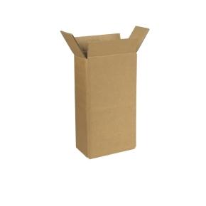 Zásielková krabica na 2 fľaše vína 180x92x330 mm, hnedá