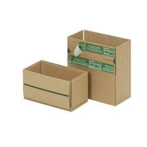 Zásielková krabice REVERSE 230x165x115 mm, samolepiace klopy